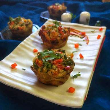 Photo of Cheesy fettuccine muffin by Debjani Dutta at BetterButter
