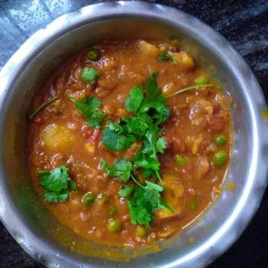 Aloo mattar recipe in Tamil,ஆளூ மட்டர், Dhanalakshmi Sivaramakrishnan