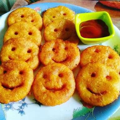 Aalu ke smile recipe in Hindi,आलू के स्माइल, Abhilasha Gupta