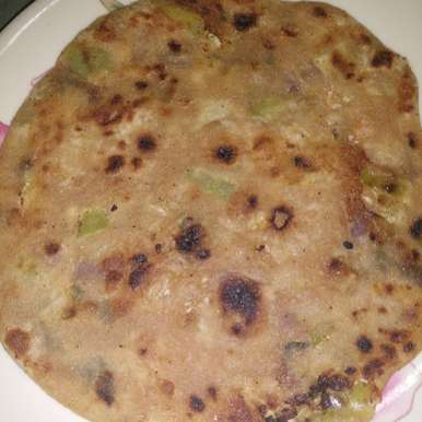 Photo of Onion peas paratha by Aachal Jadeja at BetterButter