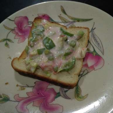 Curd open sandwich, How to make Curd open sandwich