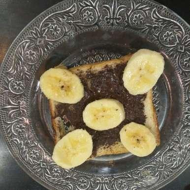 Photo of Open face bananachoco sandwich by Aachal Jadeja at BetterButter