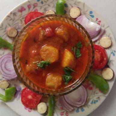 Photo of Sweet potato spicy sabji by Aachal Jadeja at BetterButter