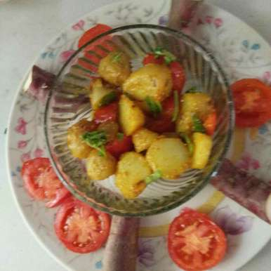 Sweet potato with tomato, How to make Sweet potato with tomato