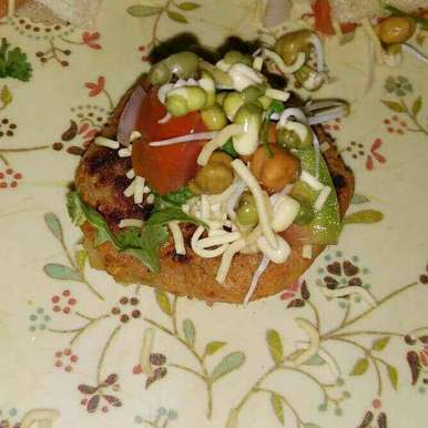 Aloo tikki with sprout, How to make Aloo tikki with sprout