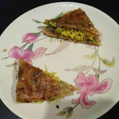 Photo of Pulao thepla sandwich by Aachal Jadeja at BetterButter