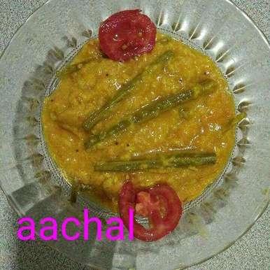 Drumstick daal recipe in Gujarati, સરગવો દાળ સાથે, Aachal Jadeja