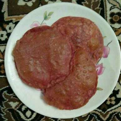 Photo of Red poori by Aachal Jadeja at BetterButter