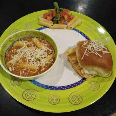 Photo of Pavbhaji pasta by Aachal Jadeja at BetterButter
