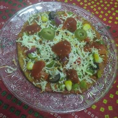 Photo of Multigrain flour fenugreek thepla pizzaa by Aachal Jadeja at BetterButter