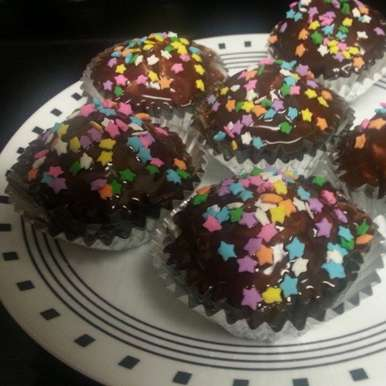 Photo of Vanilla Chocochip cupcakes with Ganache frosting by Aayushi Manish at BetterButter