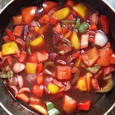 Photo of Sweet  and Sour Mix Veg Curry by abhilasha chavarkar at BetterButter