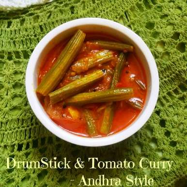 Photo of DrumStick & Tomato Curry | Mulakkada Tomato Kura – Andhra Style by Abhinetri V at BetterButter