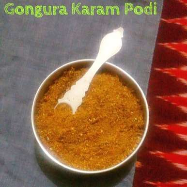 Photo of Gongura Karampodi { Sorrel Leaves Spicy Powder } – Instant Rice Mix by Abhinetri V at BetterButter
