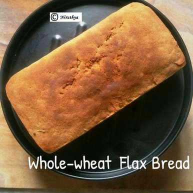 Photo of Homemade Wholewheat Flax Bread – Eggless & Milkless by Abhinetri V at BetterButter