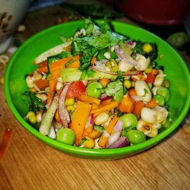Sprout chat recipe in Bengali,স্প্রাউট চাট, abhipsa mukherjee