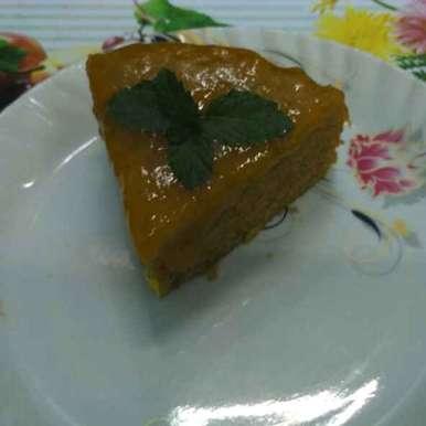 Photo of Eggless Mango Cake With Mango Glaze by Abhipsa Saran at BetterButter