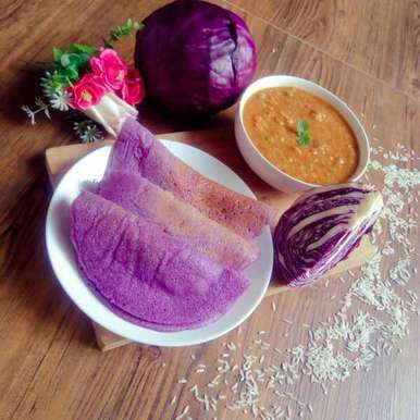 Photo of Blue kraut healthy dosa by Adaikkammai annamalai at BetterButter