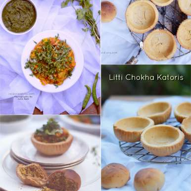 Photo of Baked Litti Chokha Canapes/Katoris by Aditi Bahl at BetterButter