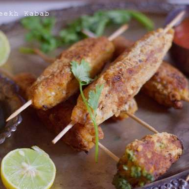 Photo of Pan fried Veg Seekh Kabab by Aditi Bahl at BetterButter