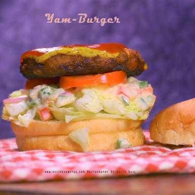 Yam Burger, How to make Yam Burger