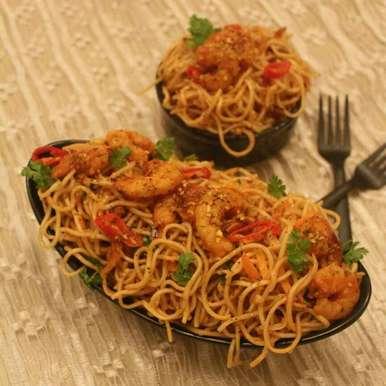Photo of Prawn Hakka Noodles by Adwiti Mukhopadhyay Ray at BetterButter