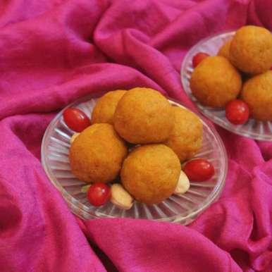 Photo of Carrot Ladoo by Adwiti Mukhopadhyay Ray at BetterButter