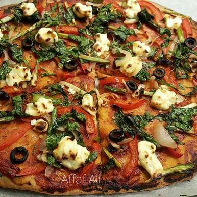 Photo of Wholemeal Flour Thin Crust Pizza by Affaf Ali at BetterButter
