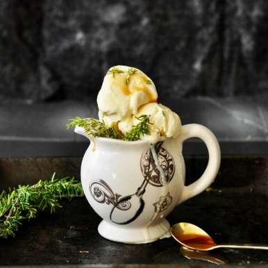 Photo of No Churn Honey Rosemary Ice Cream by Aish Das-Padihari at BetterButter
