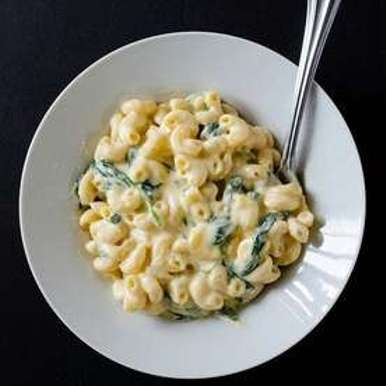 Photo of CREAMY CHEESE PASTA WITH SPINACH by Aishvarya S at BetterButter