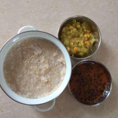 Photo of Jowar rice and manathakkali kulambu by Akshara Thambiraj at BetterButter