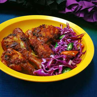 Photo of Fried Chicken With Salad by Akum Raj Jamir at BetterButter