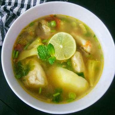 Photo of Lemony Fish And Vegetable Stew - Zero Oil by Akum Raj Jamir at BetterButter