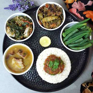 Photo of A Soulful Naga Platter - Comfort & Healthy Food by Akum Raj Jamir at BetterButter