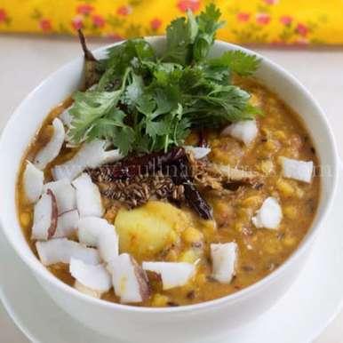 Photo of Buta Dali Aloo Kakharu Tarkari – Chana Dal With Potato And Pumpkin Curry by Alka Jena at BetterButter