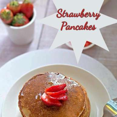 Photo of Eggless Strawberry Pancakes by Alka Jena at BetterButter