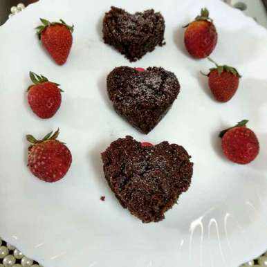 Photo of Chocolate cake hearts by Alka Munjal at BetterButter