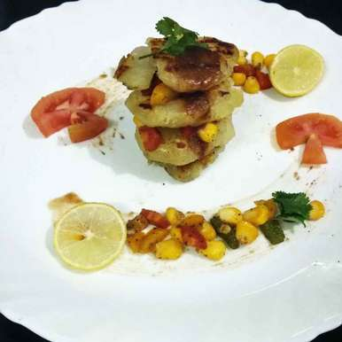 Photo of Grilled sweet potato tower . by Alka Munjal at BetterButter