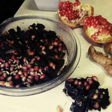 Photo of Pomegrante ginger choco square by Alka Verma at BetterButter