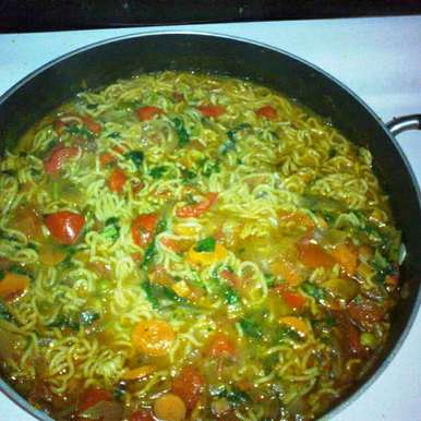 Photo of Maggi with a Tangy Twist by alqua tahseen at BetterButter