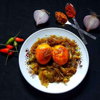 Photo of Boiled egg onion fry by Ambitious Gopa Dutta at BetterButter