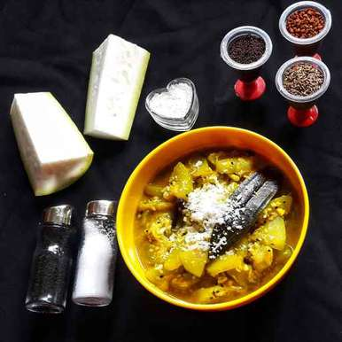 Photo of Narkel diye lau curry by Ambitious Gopa Dutta at BetterButter