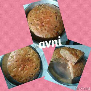 Eggless Whole Wheat Flour / Atta Apple Cake