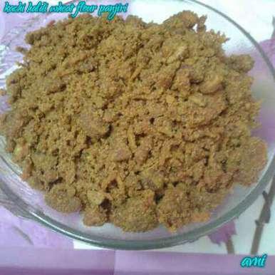 Photo of Kachi haldi wheat flour panjiri by Avni Arora at BetterButter