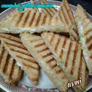 Photo of Cucumber grilled sandwich by Avni Arora at BetterButter