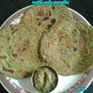 Photo of Methi aalu paratha by Avni Arora at BetterButter