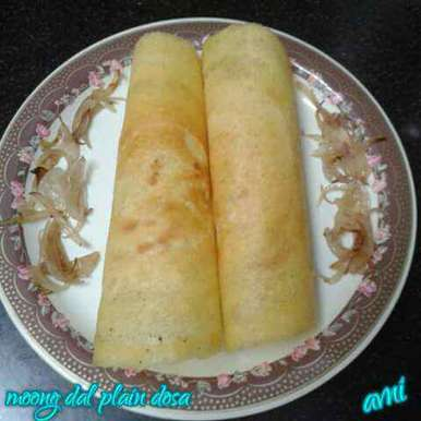 Photo of Moong Dal plain dosa by Avni Arora at BetterButter
