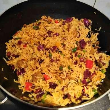 Healthy veggie pulao, How to make Healthy veggie pulao