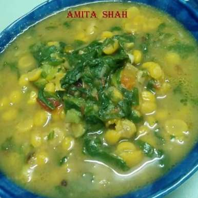 Photo of Spinach ChanaDal by Amita Shah at BetterButter