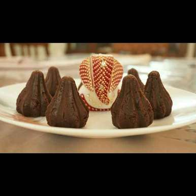 Photo of Chocolate Cake Modak by Amrita Arora at BetterButter